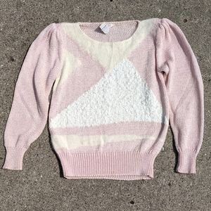 VTG Lilly of California Pink Angora Blend Sweater